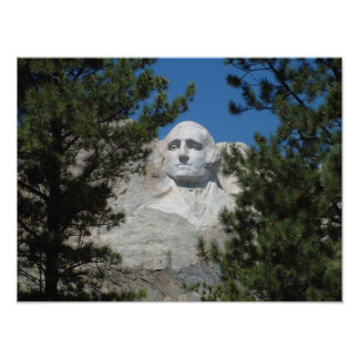 President George Washington, Mount Rushmore Poster
