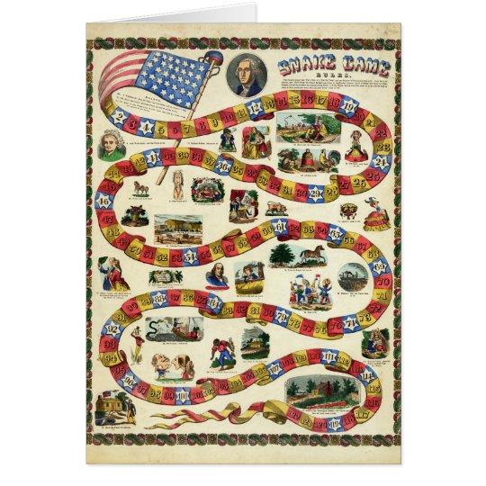 President George Washington Snake Game Card