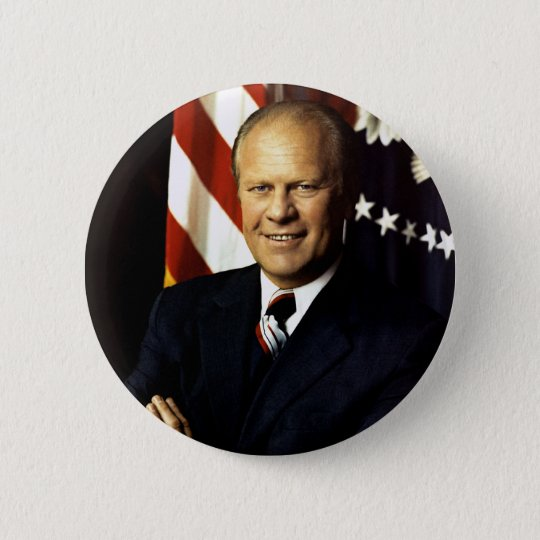 President Gerald Ford Portrait 6 Cm Round Badge