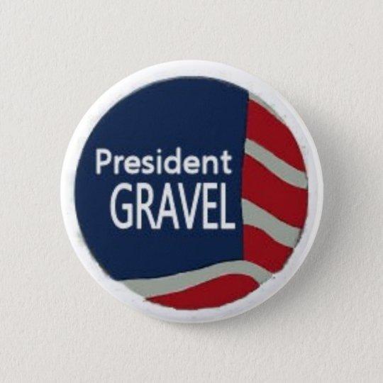 President Gravel Flag Pin