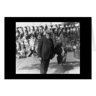 President Harding with Dead Game Birds 1923 Greeting Card