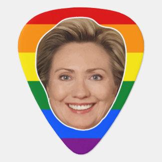 President Hillary Clinton Rainbow Guitar Pick