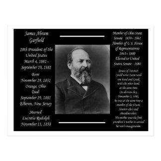 President James Garfield Postcard