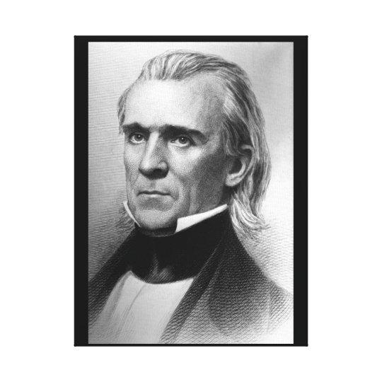 President James K. Polk, c_America Grows_Image Canvas Print