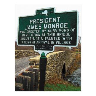 President James Monroe Stone Bridge Postcard