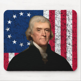 President Jefferson and The American Flag Mouse Pad