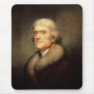 President Jefferson Painting Mouse Pad
