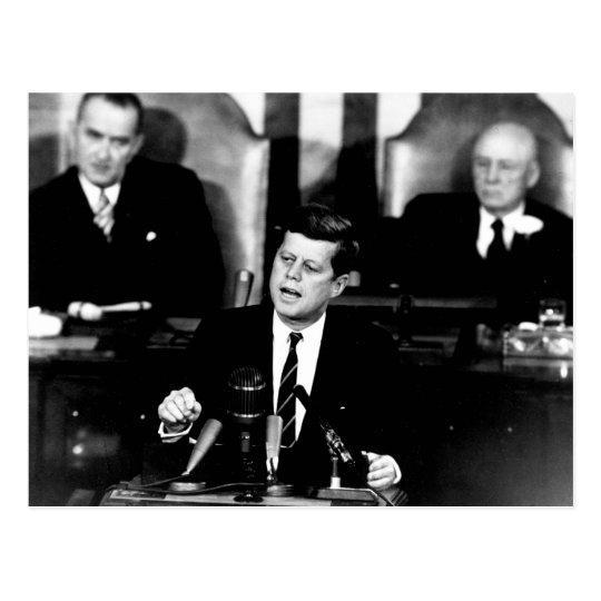 President John F. Kennedy Men to the Moon