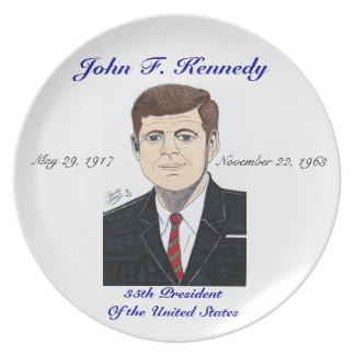 President John F. Kennedy - Plate