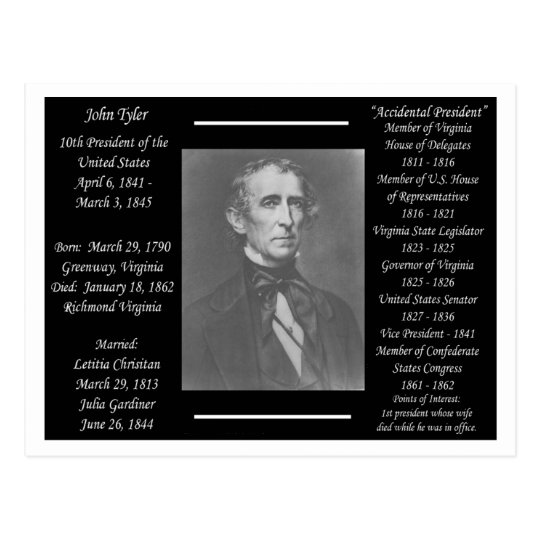 President John Tyler Postcard