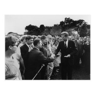 President Kennedy Greets Peace Corps Volunteers Postcards