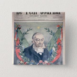 President Kruger front cover 15 Cm Square Badge