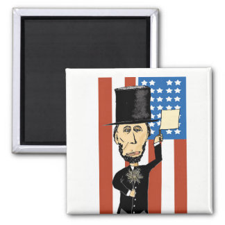 President Lincoln 2 Inch Square Magnet