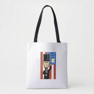 President Lincoln Custom All-Over-Print Tote Bag