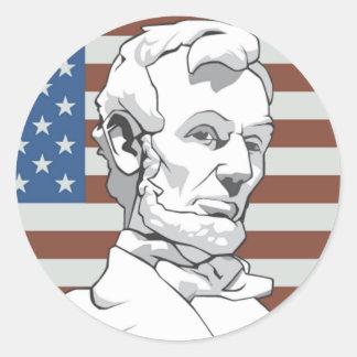 President Lincoln Round Sticker