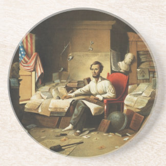 President Lincoln Writing Proclamation of Freedom Coaster