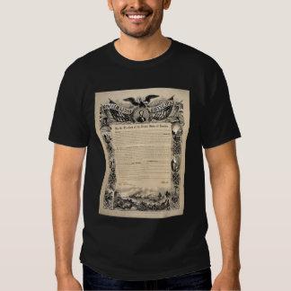 President Lincoln's 1863 Emancipation Proclamation T Shirts