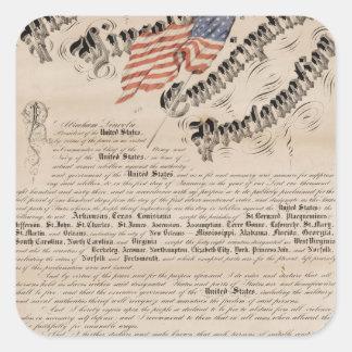 President Lincoln's emancipation proclamation 2 Square Sticker
