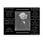 President Martin Van Buren Postcards