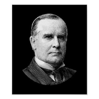 President McKinley Graphic - Black and White Poster
