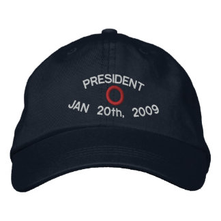 PRESIDENT O NAVY HAT EMBROIDERED HATS