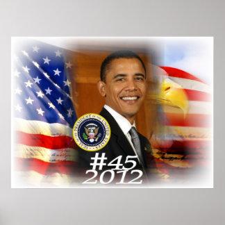 President Obama 2012 #45 Poster