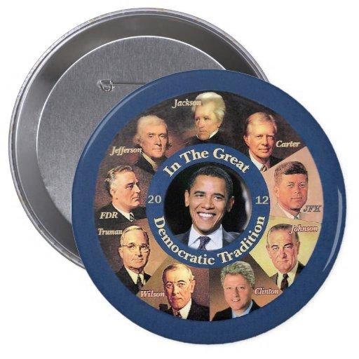 President Obama 2012 Pinback Buttons