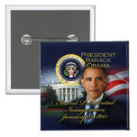 President Obama 2nd Inauguration 15 Cm Square Badge