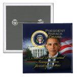 President Obama 2nd Inauguration 15 Cm Square Badge
