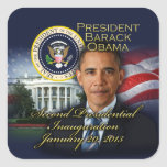 President Obama 2nd Inauguration Square Sticker