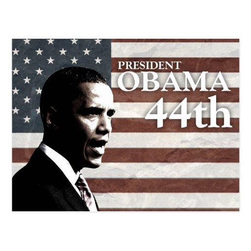 president Obama 44th - c Post Cards