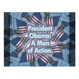President Obama-Action Man Postcard
