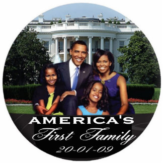 President Obama AMERICA'S FIRST FAMILY Standing Photo Sculpture