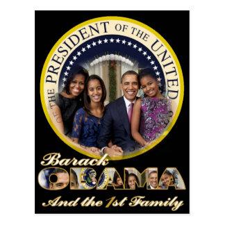 PRESIDENT OBAMA AND FRIST FAMILY POSTCARD
