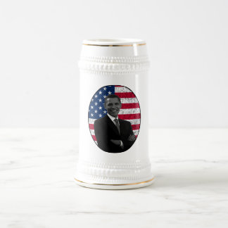 President Obama and The American Flag Beer Stein