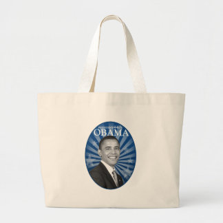 president obama blue bw jumbo tote bag