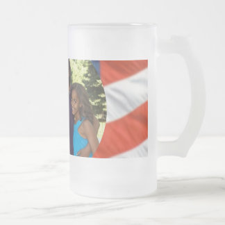 President Obama Collectibles Frosted Glass Beer Mug