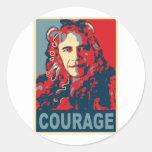 President Obama - Courage Classic Round Sticker