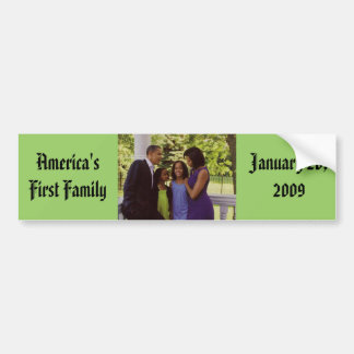 President Obama First Family Bumper Sticker