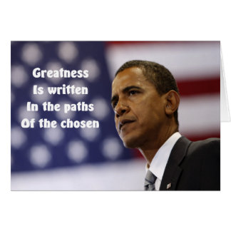 President Obama Greeting cards