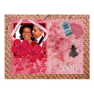 President Obama HIS STORY MEMORY LANE Postcard
