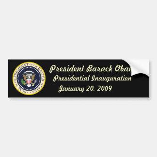President Obama Inauguration Bumper Sticker