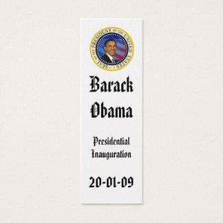 PRESIDENT OBAMA Inauguration Commemorative Mini Business Card