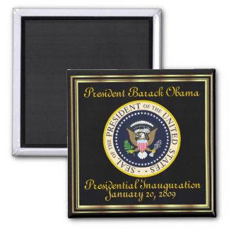 PRESIDENT OBAMA Inauguration Commemorative Square Magnet