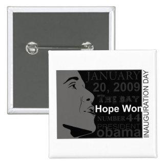 President Obama - Inauguration day 15 Cm Square Badge