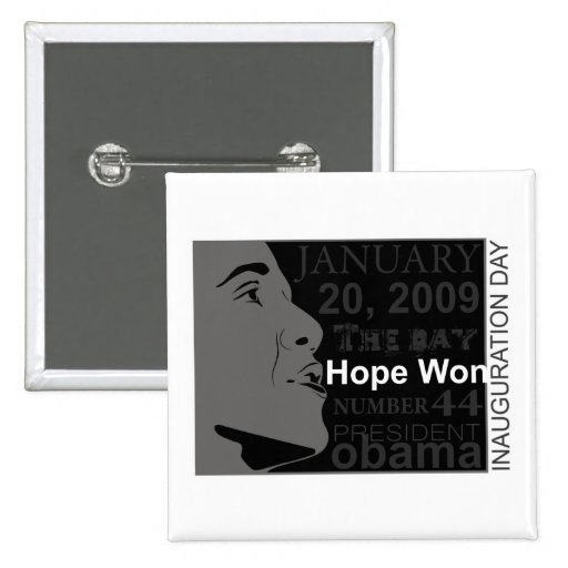 President Obama - Inauguration day Pinback Button