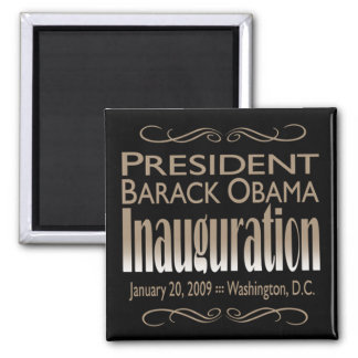 President Obama Inauguration Magnet (black)
