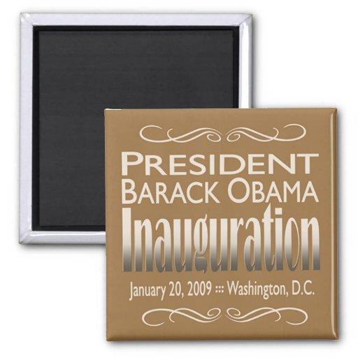 President Obama Inauguration Magnet (tan)