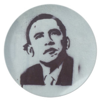 President Obama Party Plate