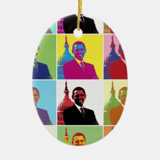 President Obama Pop Art Christmas Ornament